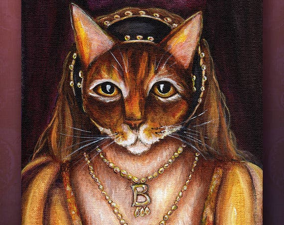 Anne Boleyn Cat 5x7 Fine Art Print
