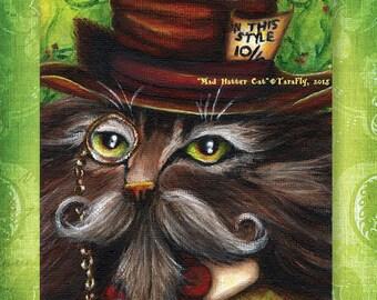 Mad Hatter Cat 5x7 Fine Art Print