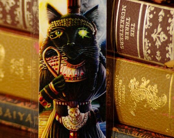 Bastet Egyptian Cat Goddess Bookmark