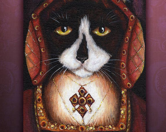 Catherine Aragon Cat 5x7 Fine Art Print