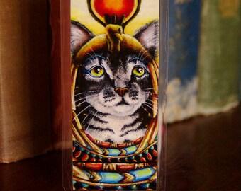 Cleopatra Cat Egyptian Cat Pharaoh Goddess Tabby Cat Bookmark