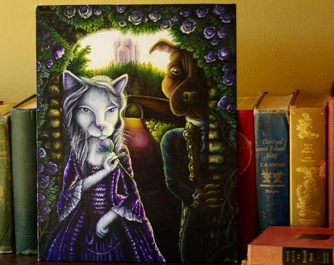 Beauty and the Beast Original Acrylic Painting