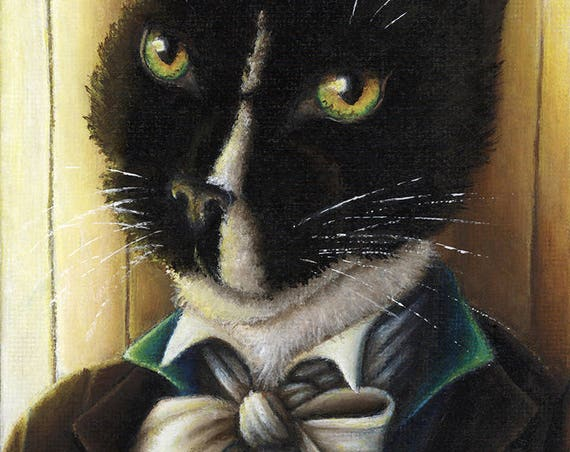 Mr Darcy Tuxedo Cat 5x7 Fine Art Print