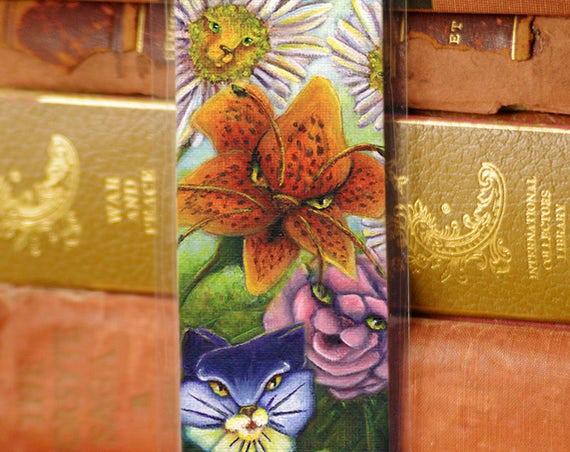 Catty Flowers Alice in Wonderland Bookmark