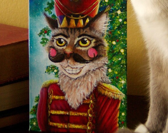 Nutcracker Prince Maine Coon Cat Original Acrylic Painting