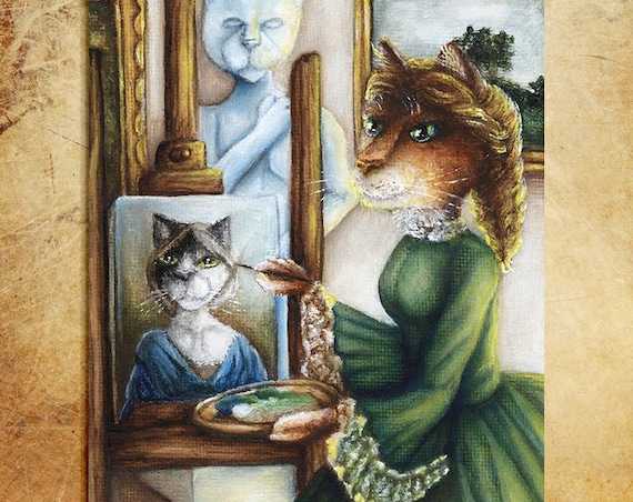 Amy March, Cat Artist 8x10 Fine Art Print