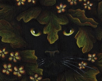 Greenman Black Cat 11x14 Archival Reproduction Print
