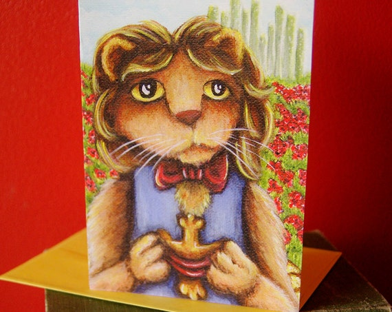 Cowardly Lion Wizard of Oz  Greeting Card