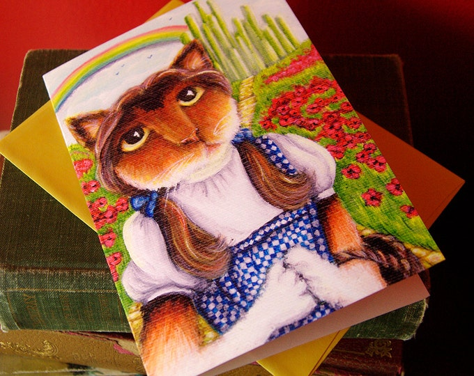 Dorothy Cat Wizard of Oz Greeting Card