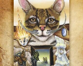 Salvador Dali Whiskers 5x7 Fine Art Print