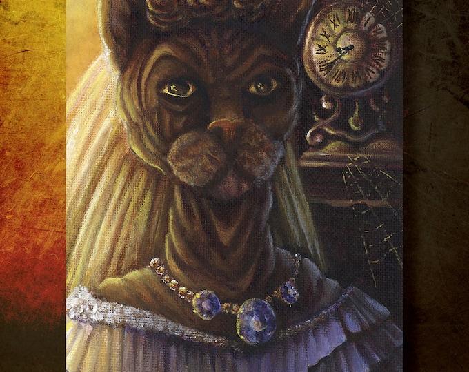 Ms Havisham Cat 8x10 Fine Art Print