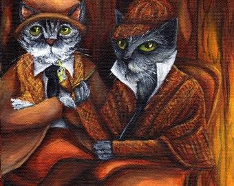 Sherlock Holmes and Watson 11x14 Fine Art Print