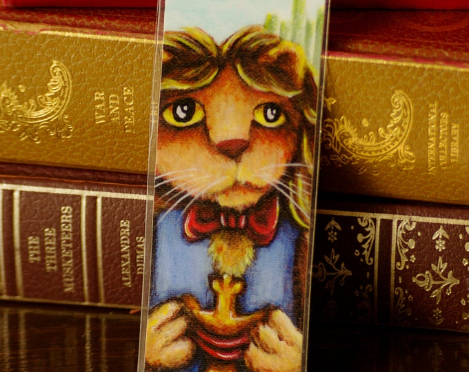 Cowardly Lion Wizard of Oz Inspired Bookmark