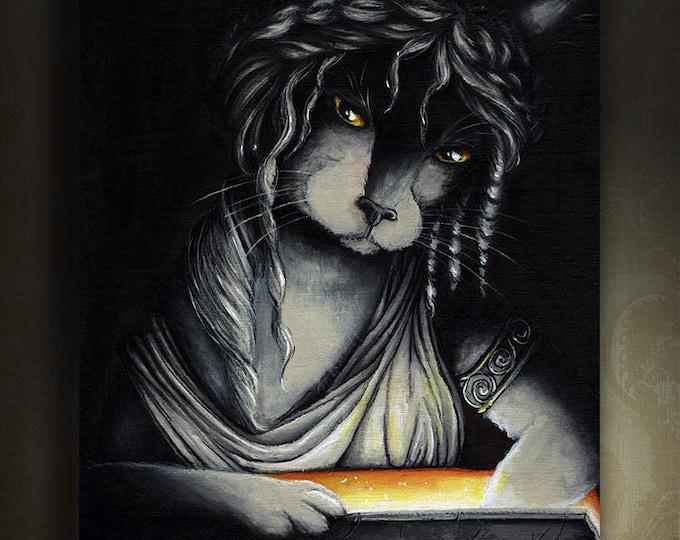 Pandora Cat 8x10 Fine Art Print