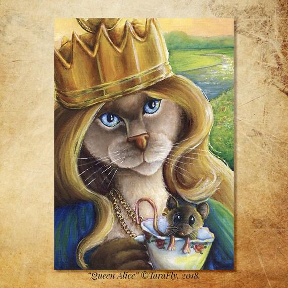 Queen Alice Cat 5x7 Fine Art Print
