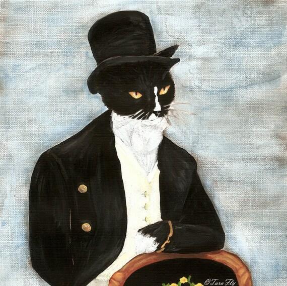 Mr Darcy Tuxedo Cat 5x7 Art Print