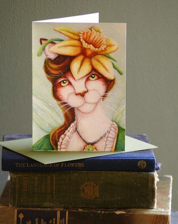 Daffodil Fairy 5x7 Greeting Card