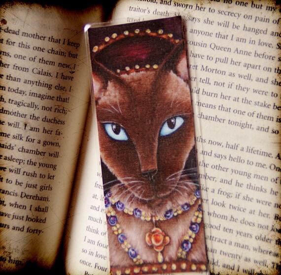 Catherine Howard Cat, Tudor Cats King Henry VIII Wives Laminated Paper Bookmark