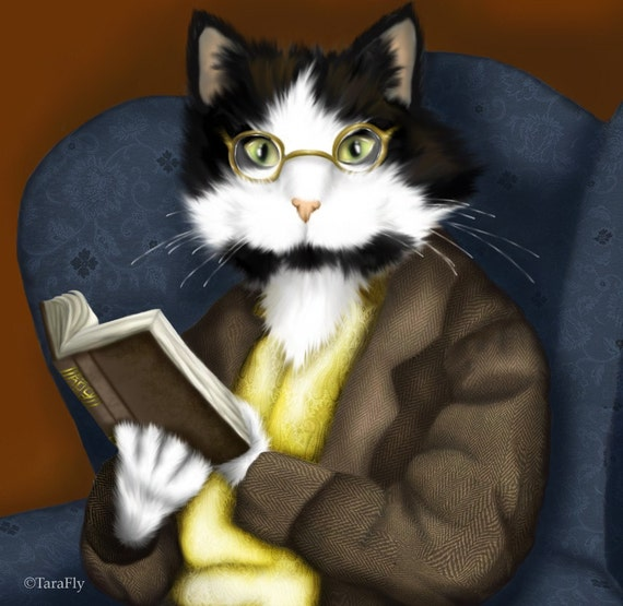Mr Bennet Tuxedo Cat 5x7 Fine Art Print