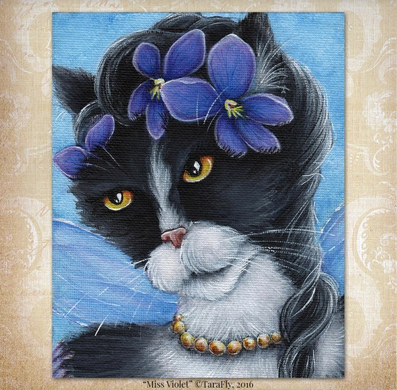 Violet Fairy Cat 8x10 Fine Art Print