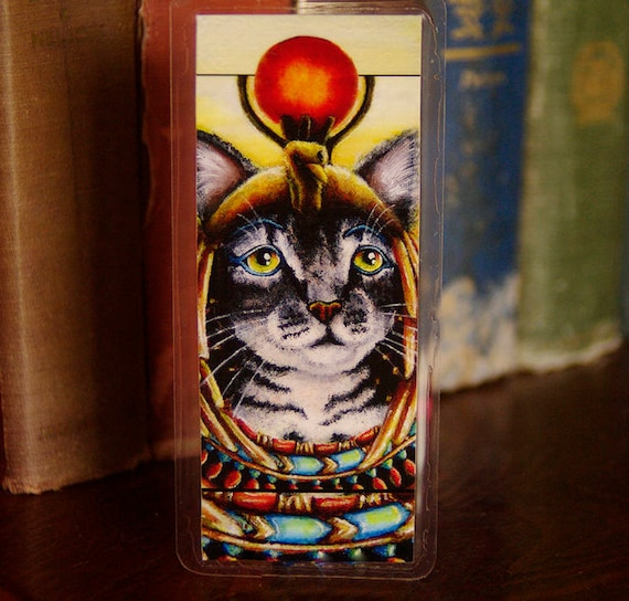 Cleopatra Egyptian Cat Pharaoh Bookmark