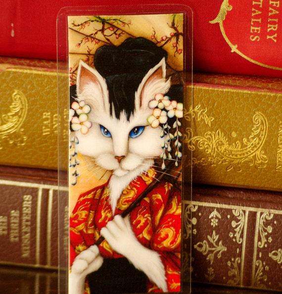 Cat Wearing Japanese Kimono Bookmark