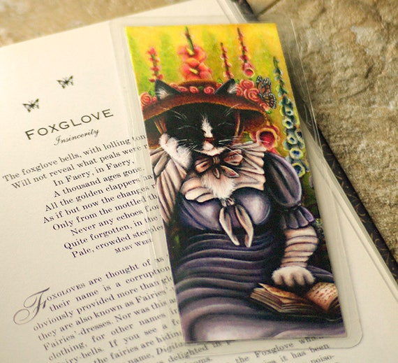 Cottage Garden Cat Bookmark