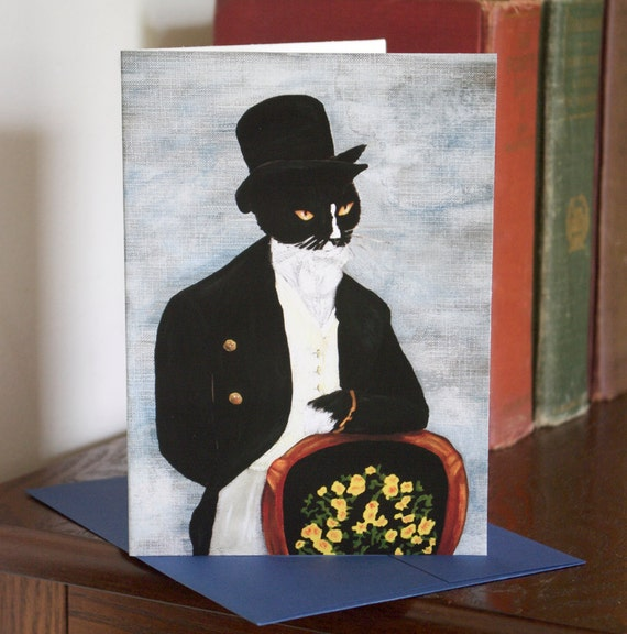 Mr Darcy Cat Greeting Card