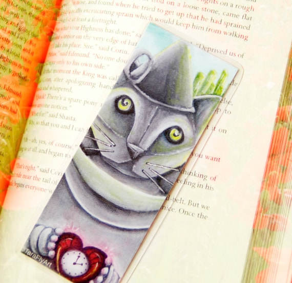 Tin Man Cat Bookmark Metal Cat Wizard of Oz Inspired Cat Bookmark