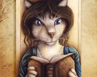 Lizzy Bennet Cat, Pride and Prejudice Fine Art Archival Print