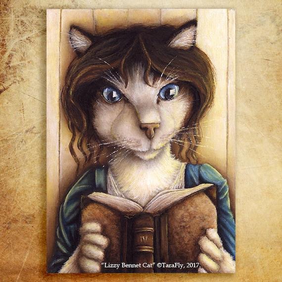 Lizzy Bennet Cat 5x7 Fine Art Print