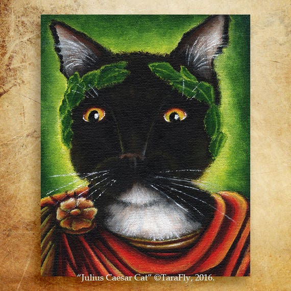 Julius Caesar Cat 8x10 Fine Art Print