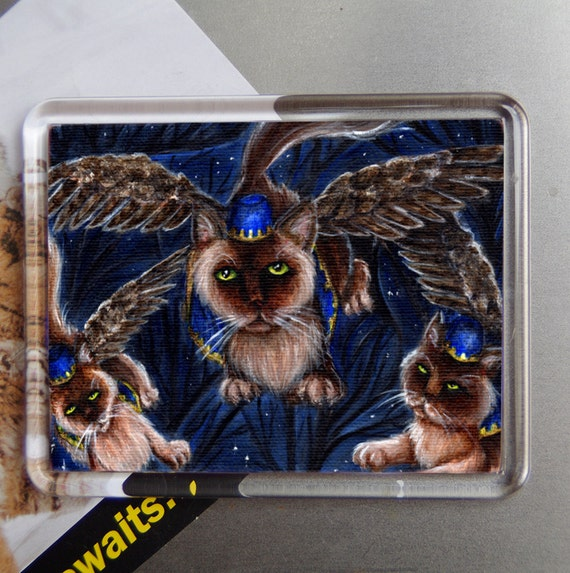 Flying Monkey Cats, Wizard of Oz, Cats With Wings, Fridge Magnet
