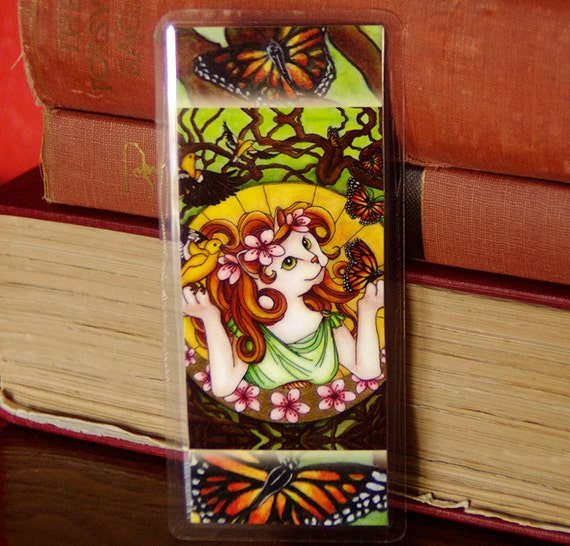 Spring Goddess Cat Bookmark