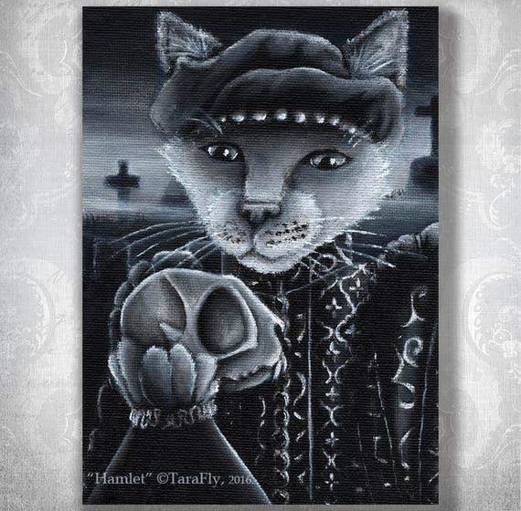Hamlet Cat 8x10 Fine Art Print