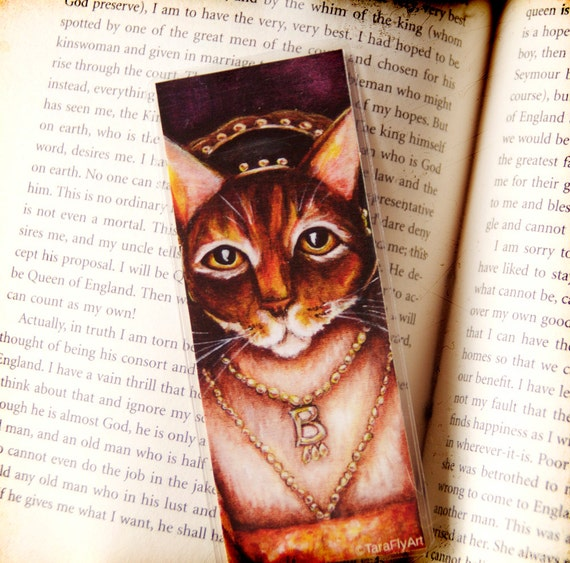 Anne Boleyn Tudor Cat Bookmark