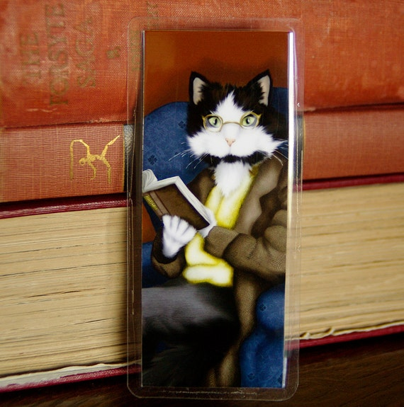 Mr Bennet Tuxedo Cat, Pride and Prejudice Bookmark