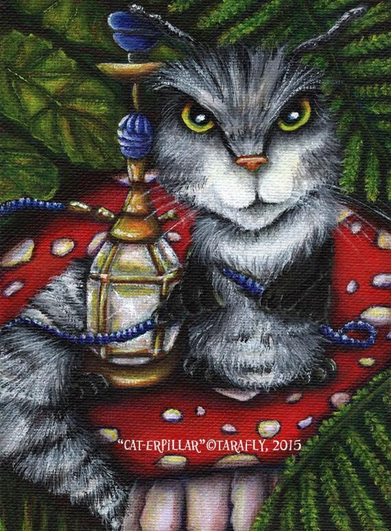 Caterpillar Alice in Wonderland 5x7 Fine Art Print