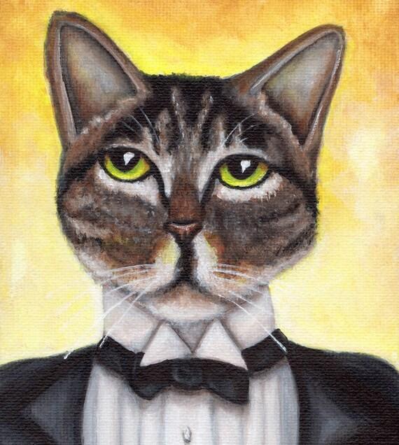 Jay Gatsby Cat 5x7 Fine Art Print