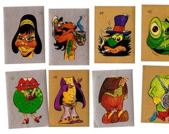 30 - Mixed 1973 HIPPY 2000 Parody Stickers Goofy and Fun