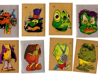 10 - Mixed 1973 HIPPY 2000 Parody Stickers Goofy and Fun
