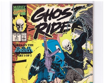 GHOST RIDER Issue 5 Comic Book in NM Condition with Punisher