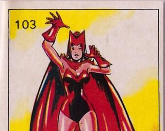 Rare 1980 Marvel Super Heroes Red Sorcerres 103 Sticker