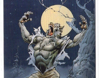 1994 Mike Ploog Collector Card Changing into Werewolf