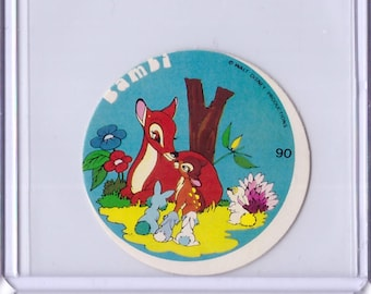 Rare 1962 Walt Disney Prod MICKEY Album Sticker - Bambi with Mom 179321