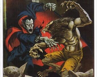1994 Mike Ploog Collector Card Dracula vs Werewolf
