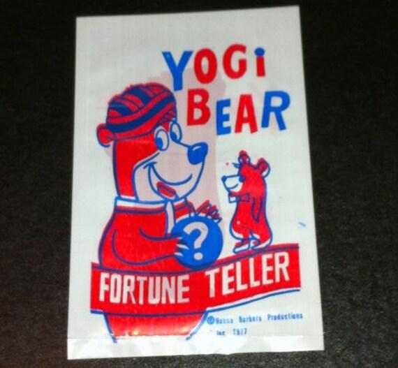 Jouet de carnaval de 1977 yogi Bear Fortune Teller nouveauté
