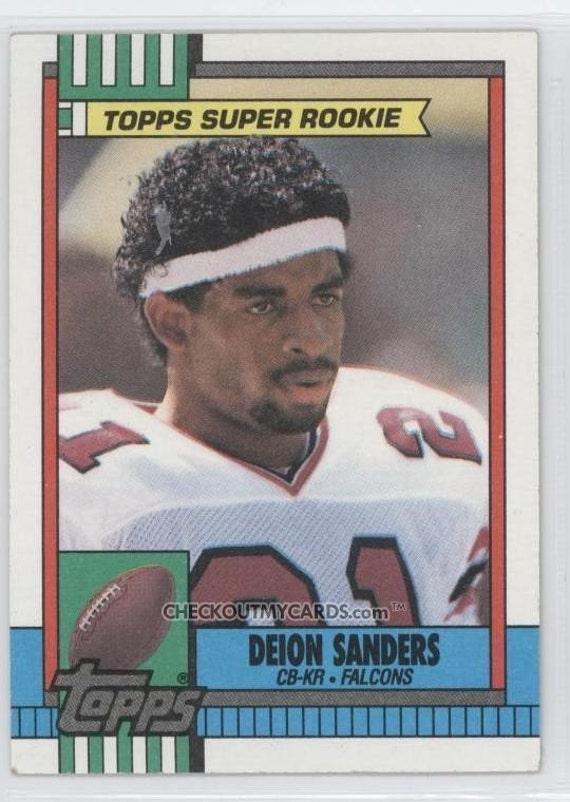 1990 Topps Football Deion Sanders Super Rookie Card