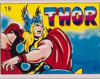 Rare 1980 Marvel Super Heroes THOR 18 Sticker