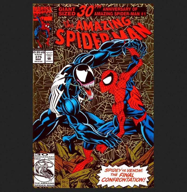 Issue 375 the Amazing Spider-Man Comic Book March 1993 image 1
